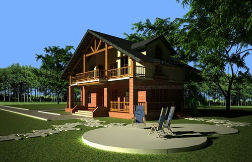 Thiết kế nhà 100m2 có chống nóng cho mùa hè
