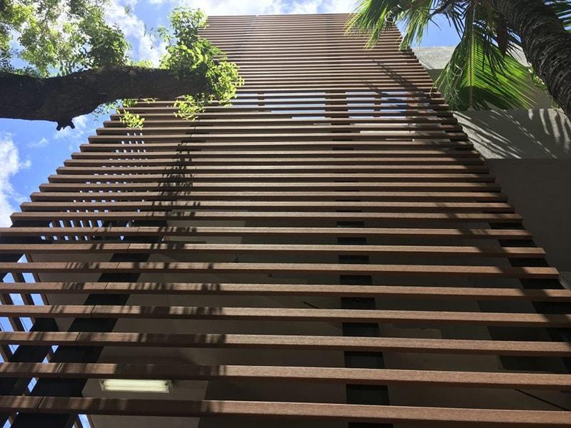 Lam chắn nắng bằng gỗ nhựa Composite