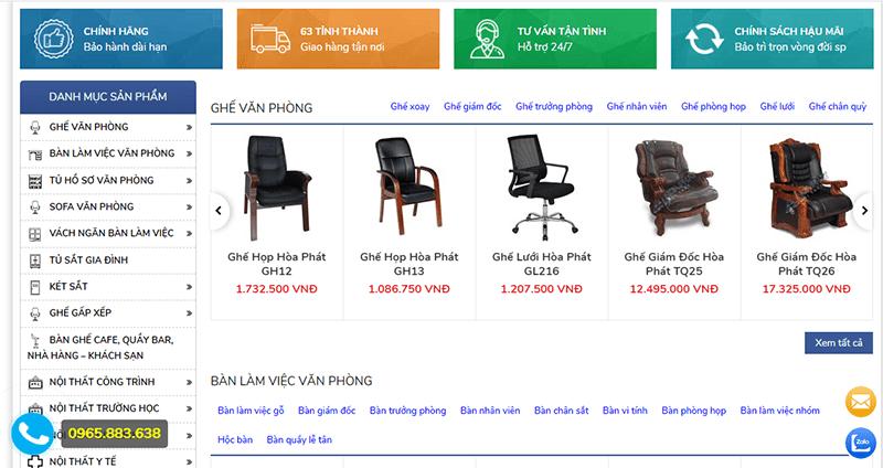 Đại lý cung cấp sản phẩm nội thất Hòa phát chính hãng tại Hà Nội