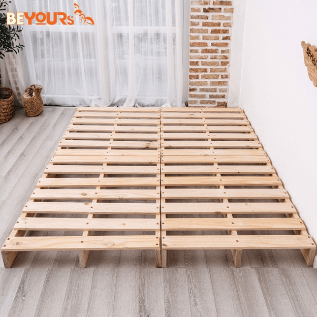Giường được thiết kế chắc chắn, chịu được trọng lượng lớn