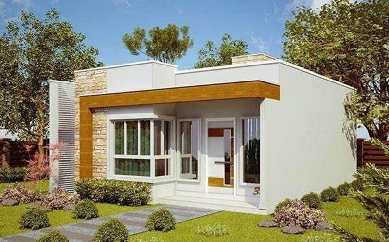 Thiết kế nhà cấp 4 hình vuông đơn giản mà tiện lợi