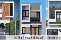 Việt Architect Group giới thiệu thiết kế Nhà 2 tầng mặt tiền 6m đẹp